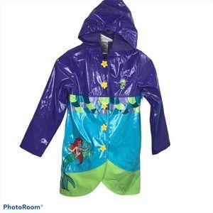 Disney Store Little Mermaid Rain Jacket M 7-8